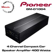 Pioneer GM-D1004 - 4 Channel Compact Car Speaker Amplifier 400 Watts