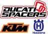 Throttle Spacer Kit KTM+Husqvarna 690/1090/1190/1290, 701 Enduro/Vit/Svart
