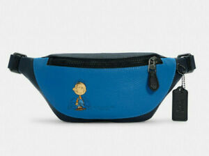 Coach X Peanuts Mini Warren Belt Bag With Pig Pen Leather Fanny Pack ~NWT~ 5512