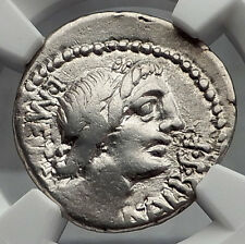 Roman Republic 96BC Rome Apollo Victory Ancient Silver Denarius Coin NGC i60106