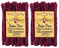 Shadow River Wild Huckleberry Gourmet Licorice Candy Purple Twists 8 oz (2 Pack)
