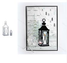 Candle Light Metal Cutting Dies Christmas Stencils Scrapbooking Album Craft DIY