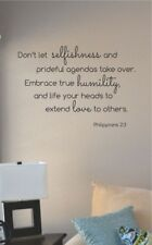 dont let selfishness and prideful vinyl wall art decal sticker home house deco