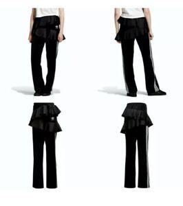 adidas X J KOO Women's Satin Frill Black Track Pants Size Small FT9893. New