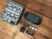 """Sony PS Vita PCH-2001  Black Handheld System (with 7 Games) (""""3.68"""") 8GB"""