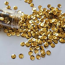 500 x 6mm Gold High Quality Cup Sequins in Clear Plastic Bottle