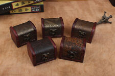 Decorative Vintage Trinket Boxes Small Wooden Storage Jewelry Box Treasure Chest