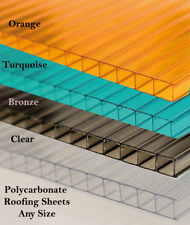 8mm Polycarbonate Roofing Sheet Various Size - 10 Year Warranty - Double Side UV