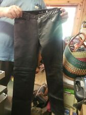 LEATHER PANTS EARL JEAN ITALY BLACK  SIZE 26 WOMENS WOW!!