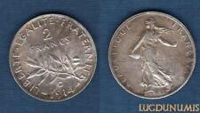 III République, 1871-1940 – 2 Francs Semeuse 1914 C Castelsarrassin SPL QUALITE