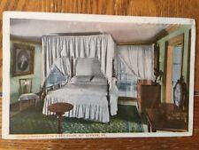 POSTCARD UNUSED VIRGINIA. MOUNT VERNON- THE WASHINGTON BEDROOM VIEW # 1