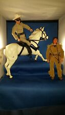 LONE RANGER and TONTO 1973 Action Figure / Dolls with SILVER THE HORSE set