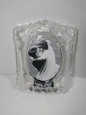Mikasa Princess Glass Crystal Wedding Picture Frame Oval holds 5x7 photo