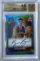 ROOKIE! 2017-18 Kyle Kuzma Optic Green Holo (RC/Auto) #2/5 ! BGS 9.5/10!