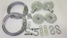 Garage door extension spring pulley sheave kit & SAFETY CABLE ~ Fast Shipping