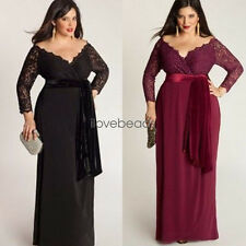 Womens Big Large Plus Size Elegant Sexy Evening Maxi Long Party Lace Dresses 4XL