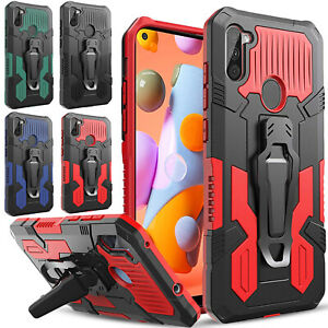 For Samsung Galaxy A01 A11 A21 A21S Case Belt Kickstand+Tempered Glass Protector