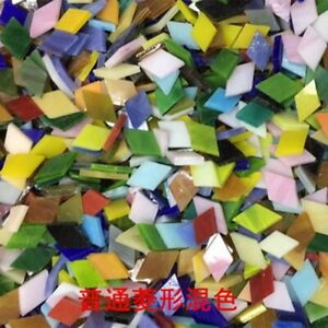 50g Creative Mosaic Inlay Tiles DIY Wall Handmade Materials Glass Mica Piece
