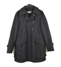Dries van Noten Men Thick Wool MidLength Military Style Jacket Coat Size Large
