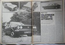 1974 VW Passat TS Automatic Original Motor magazine Road test