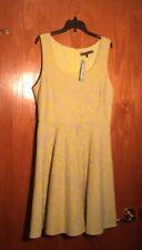 Stitch fix Brixon Ivy Yellow Textured Floral Fit & Flare Dress XLarge $74