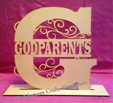 Monogram Split Letter Any Letter / Name 25cm With Stand Mdf Wood Wooden Craft