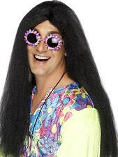 Hippy Neil Long Wig Woodstock Fancy Dress 60s-70s Stag