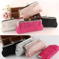 Fashion Girl Women Sequin Clutch Wallet Long Card Holder Coin Purse Handbags