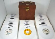 PROMO Lot of 50 SOUL ROCK DOOWOP - 45 rpm Record In Disc Mate Storage Carry Case