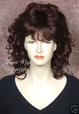 Classic Style Wig in Dark Cherry Brown / 100% Japanese Fibre Brilliant Quality