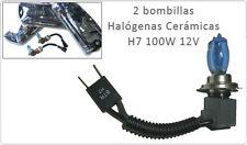 BOMBILLAS HALOGENAS CERAMICAS H7 100W 12V 5500K 2300LM LUZ BLANCA.ENVIO GRATIS