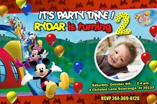 MICKEY CLUBHOUSE BIRTHDAY PARTY INVITATION PHOTO invite minnie mouse 1ST - c18
