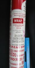 NOS Hallmark (Product) Red Gift Wrap Paper Wrapping Aids Africa Christmas 22.5