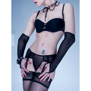 Patrice Catanzaro - Paire de Mitaines longues sexy en resille fine