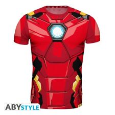 T-shirt Marvel Iron Man costume replica maglia Uomo Slim Fit ABYstyle