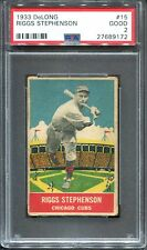 1933 Delong #15 Riggs Stephenson PSA 2 Chicago Cubs