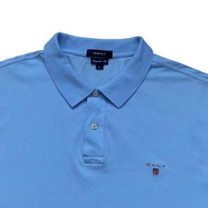 "Vintage GANT Polo Shirt | Size XL | Blue Short Sleeve 48"" Chest"