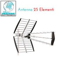 ANTENNA DIGITALE TERRESTRE UHF DTT DVBT 25 ELEMENTI ALTO GUADAGNO TV FULL HD LTE