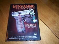 GUNS & AMMO Firearms Guns Gun Shooting Rifle SEASON 6 4 DVD SET SEALED NEW RARE