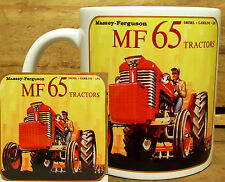 300ml COFFEE MUG WITH MATCHING COASTER - MASSEY FERGUSON 65 TRACTOR