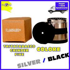 Grinder Tritatabacco in Metallo Pollinator Tritino Trincia Tabacco Silver Black