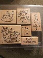 Stampin Up Rubber Stamps Christmas Santa Set 2003 Rare