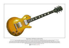 Duane Allman's Gibson Les Paul Goldtop Limited Edition Fine Art Print A3 size