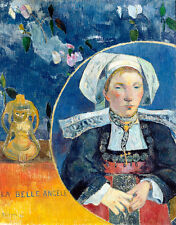 La Belle Angele by Paul Gauguin 75cm x 58.8cm High Quality Art Print