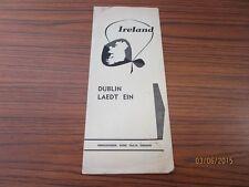 Âgées reisefleyer-publicité-Irlande DUBLIN-probablement irlandais 1950er/60er J./s30