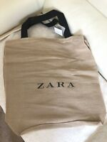 BNWT ZARA Extra Large Cotton Canvas Shopping Tote Shoulder Bag Beach Bag
