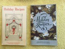 2 ~ Holiday Recipes Cookbook, Home Service Department Iowa Public Service ~ PB G