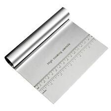 1 Stück Teigkarte Edelstahl Groß 15cm Mit Maßangaben - Teigschaber Teigabst