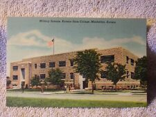 Vintage Postcard Military Science, Kansas State College, Manhattan, Kansas