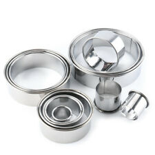 14PCS Pastry Mold Cookie Cake Mould Round Cutter Stainless Steel Doughnut Kits